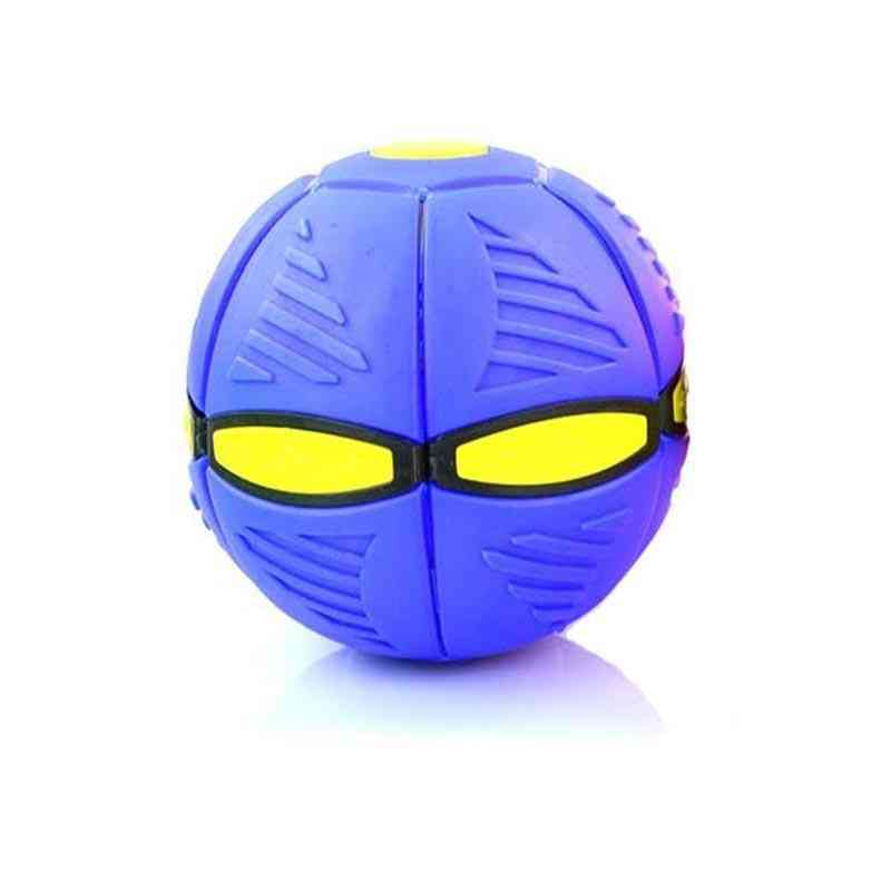 Novelty Flying Ufo Flat Throw Disc Sound Ball Toy