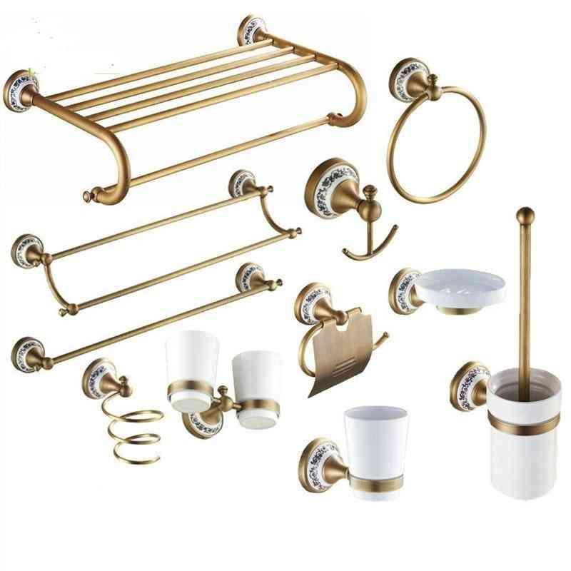 Bathroom Hardware/sanitary Ware Set-antique Style With Porcelain Base