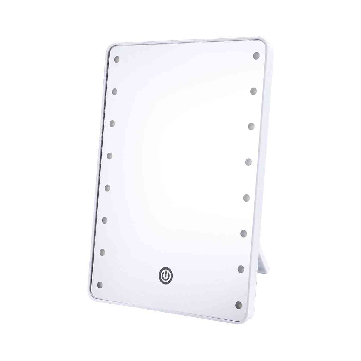 Cosmetic Mirror With 16 Leds, Touch Dimmer Switch - Battery Operated