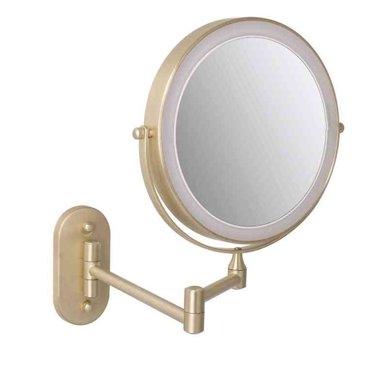 Wall Mounted Makeup Mirror - Led Lighted Touch Button