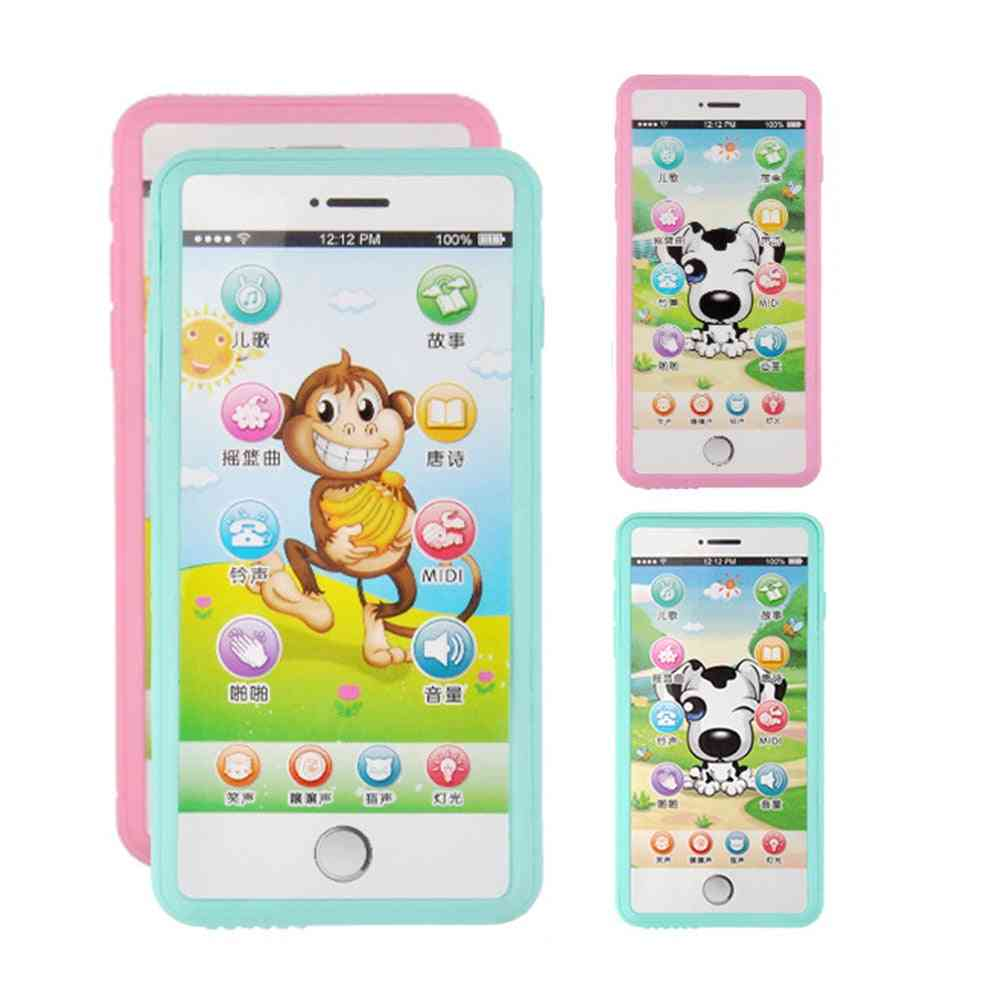 Multi Function Simulated Mobile Phone With Touch Screen Music, Story And Poetry Toy
