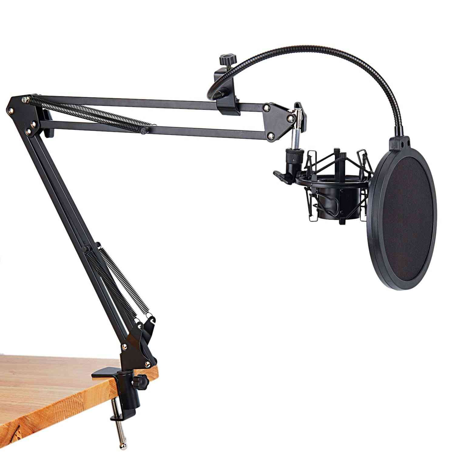 Universal Shock Mount Mic Holder Table Mounting Clamp