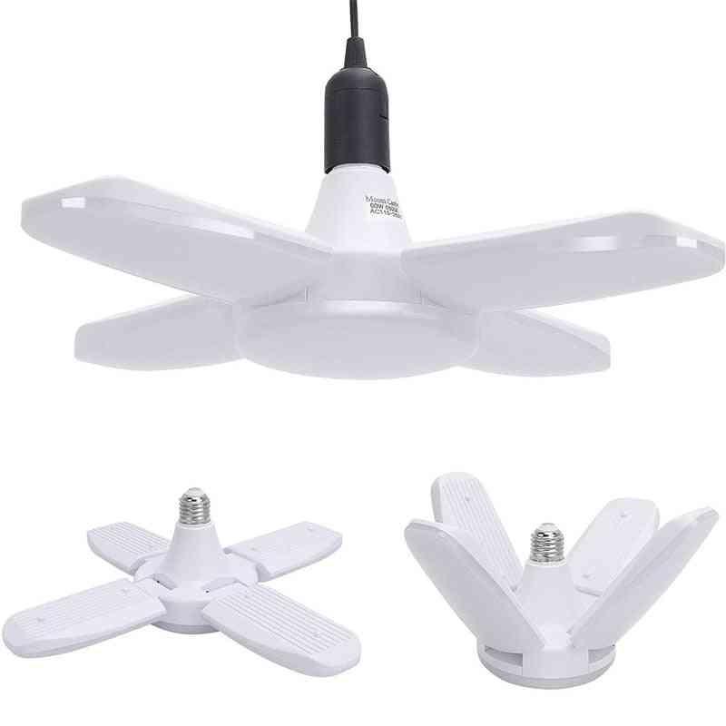 Led Garage Lights - Foldable E27 Bulb 4 Adjustable Fan Blades Deformable Ceiling