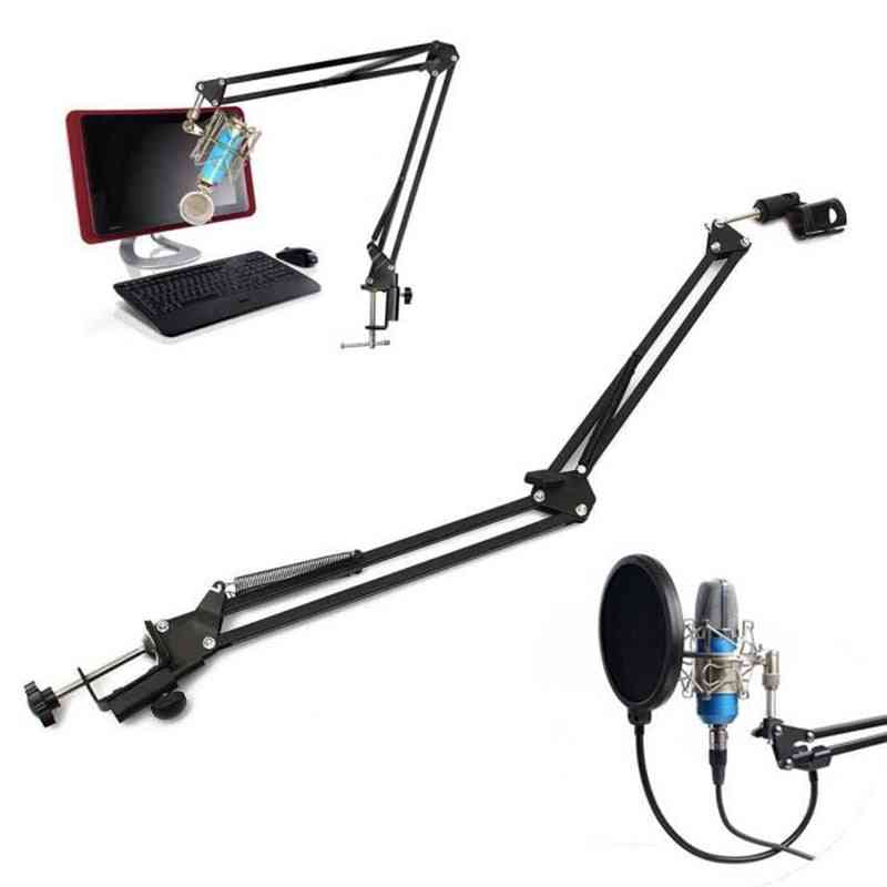 Foldable Microphone Stand - Table Mounting Hanging