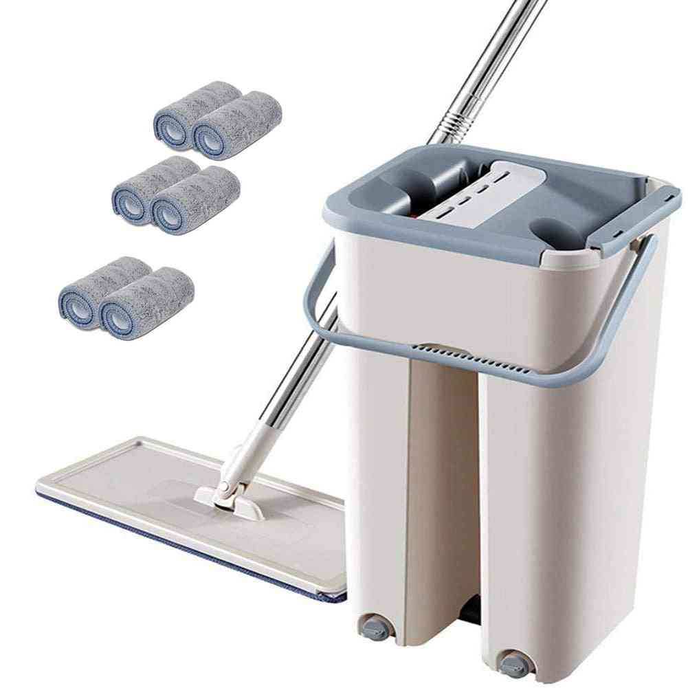 Stainless Steel Rod Floor Mop With Bucket And Cloth