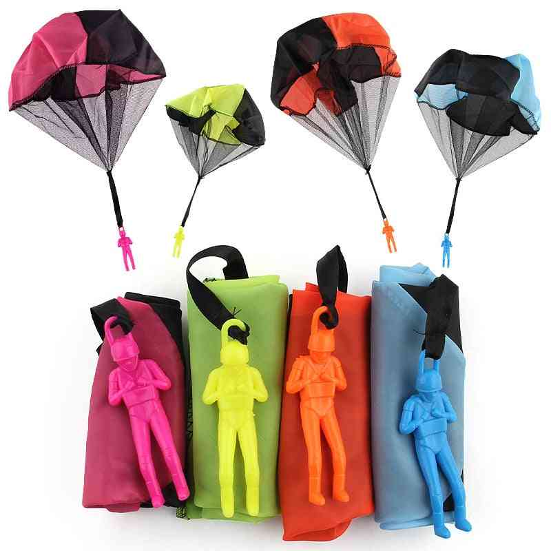 Hand Throwing Parachute Toy With Figure Soldier