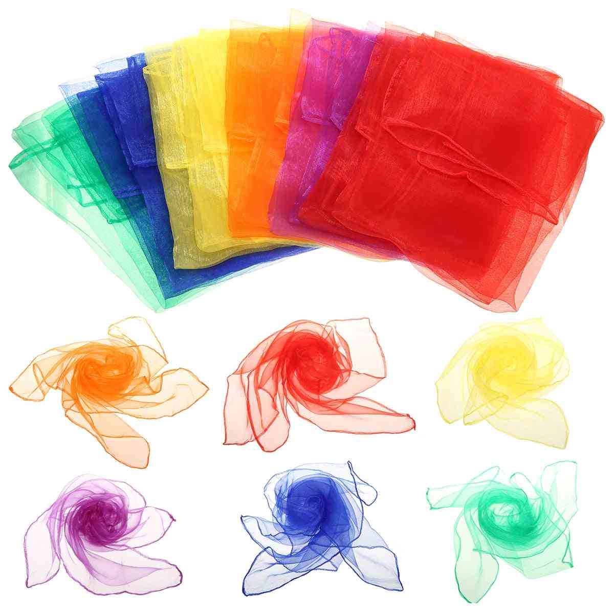6pcs Gymnastics Scarves For Outdoor Game - Dancing And Juggling Towels