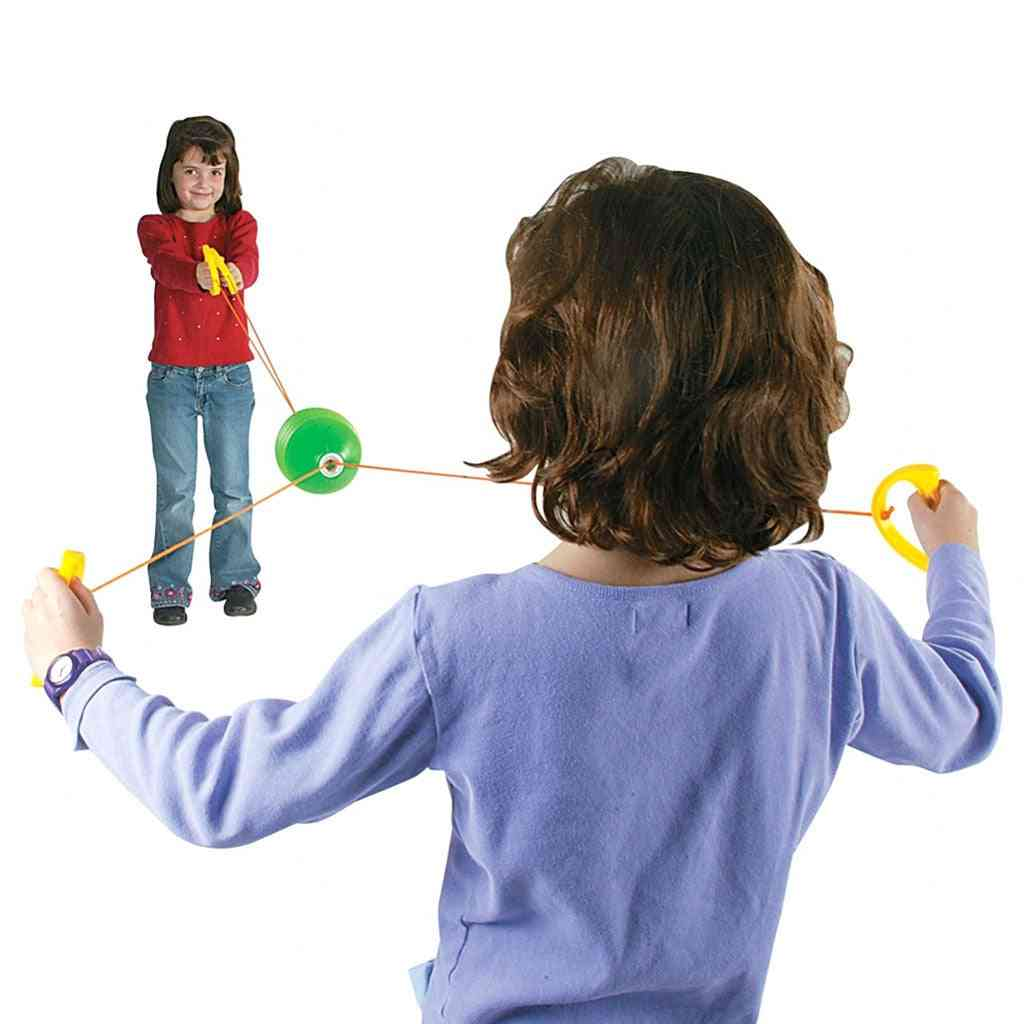 Through And Pulling Game-hand Draw Ball Toy For