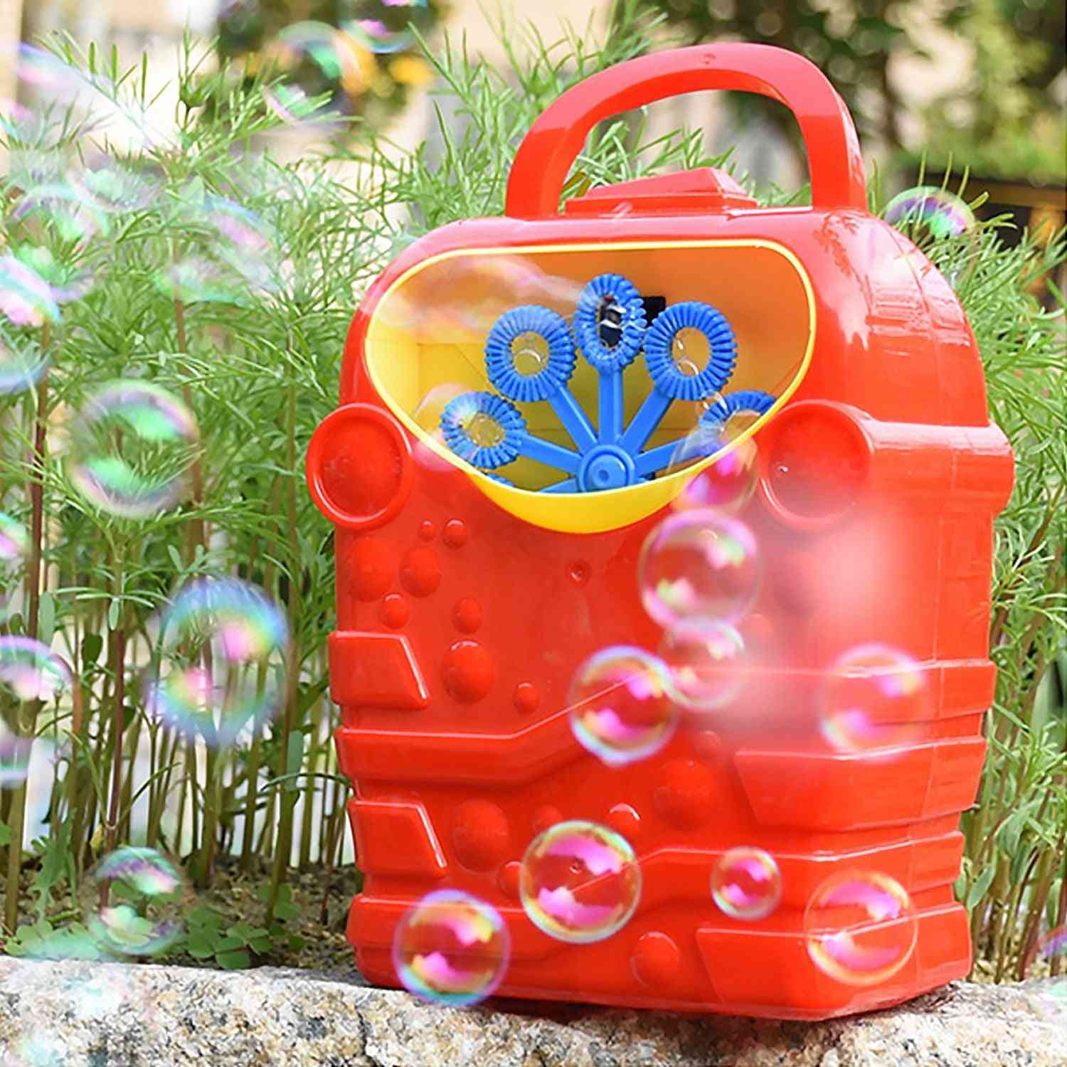 Cute, Cartoon Design-automatic Electric Bubble Machine With Handle