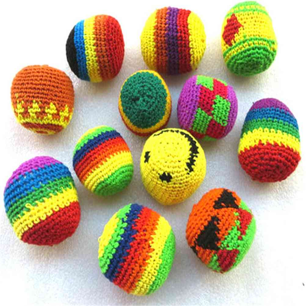 Children Magic Juggling Ball Sacks Foot Bag Classic Toy