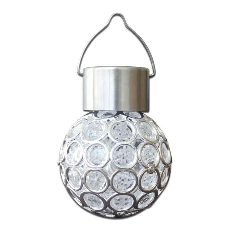 Waterproof Solar Led Hanging Light Ball Lamp For Outdoor Garden Yard