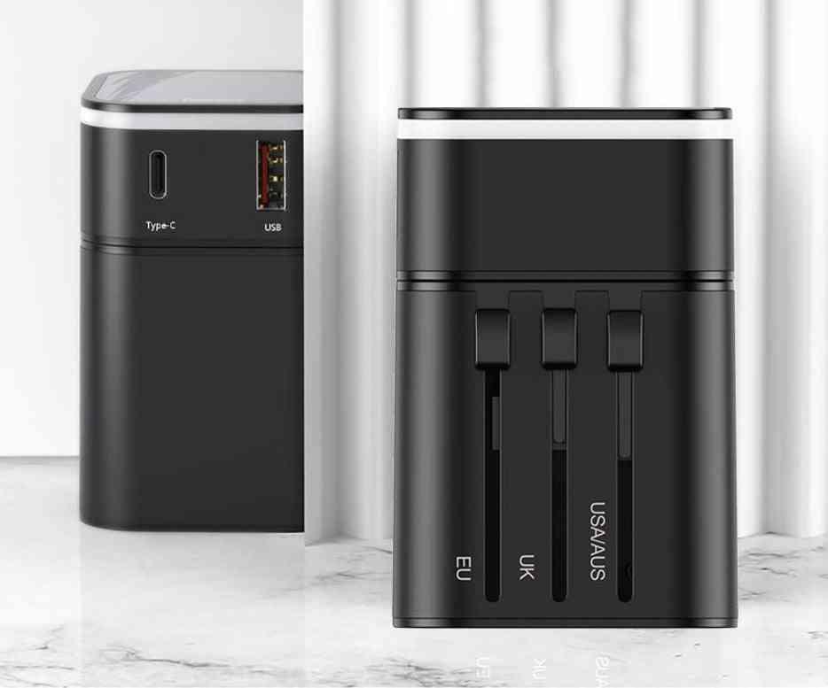 Universal Travel Adapter-fast Usb Charger For International Plug Socket