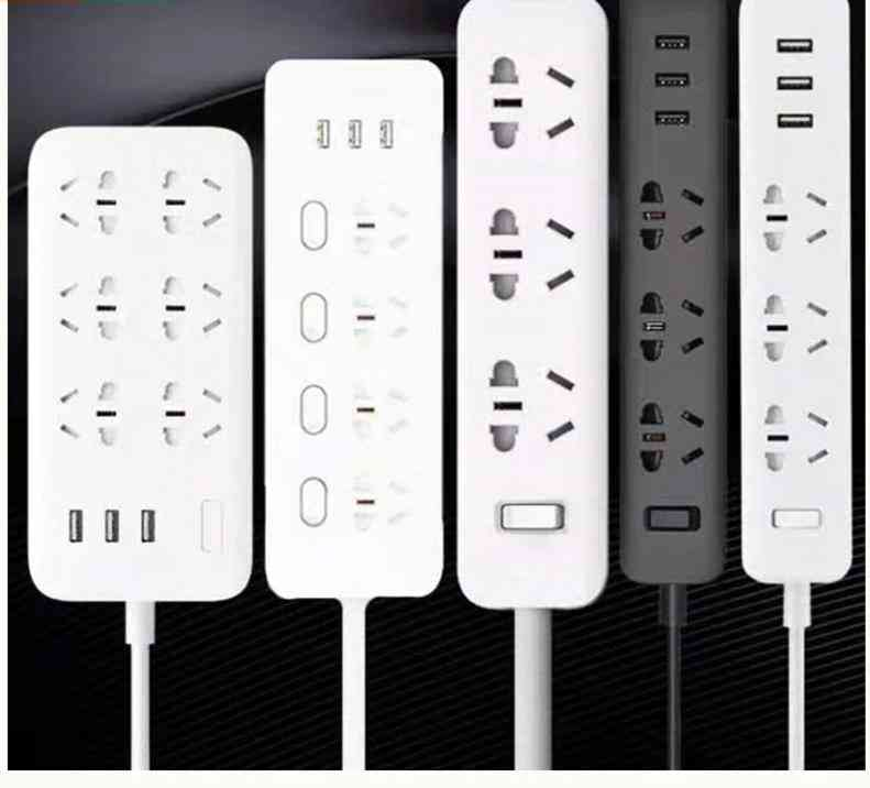 Original Power Strip - 2.1a Fast Charging Usb Extension Socket Plug And 6 Outlets Socket Adapter