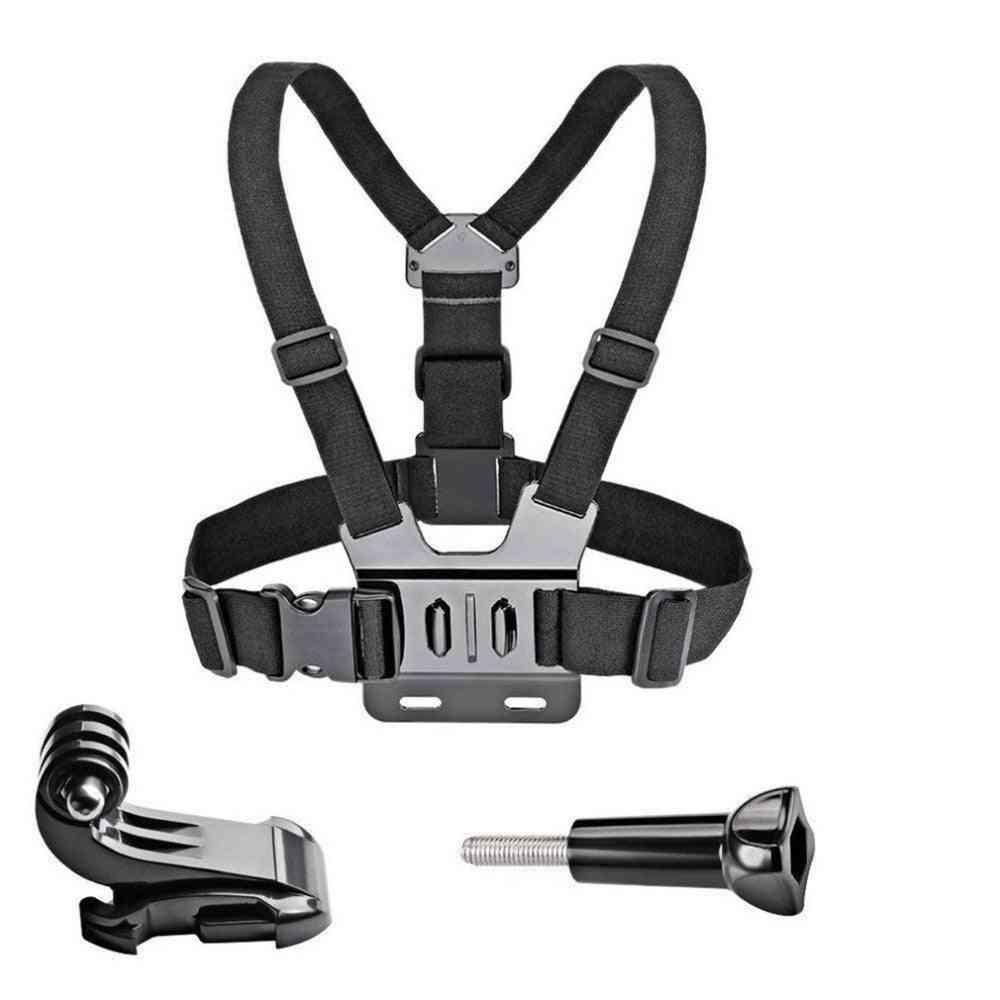 Adjustable Chest Mount Harness Chest Strap Belt Compatible Action Camera Brand: Gopro For Gopro Hd Hero 8/7/6/5/4/3/ Sj4000/sj5000 Sport Camera