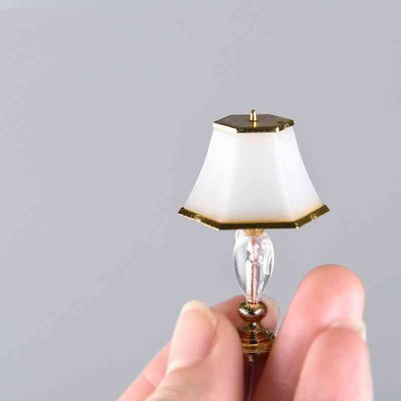 1:20 Scale Mini Floor Lamp Table Light Dollhouse Living Room Bedroom Furniture Decor Miniature Lights