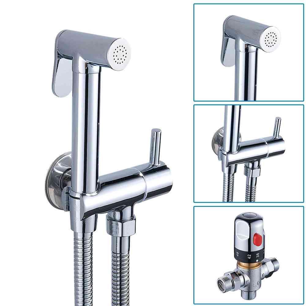 Bathroom Bidet Spray Kit- Handheld Thermostatic Faucet Set