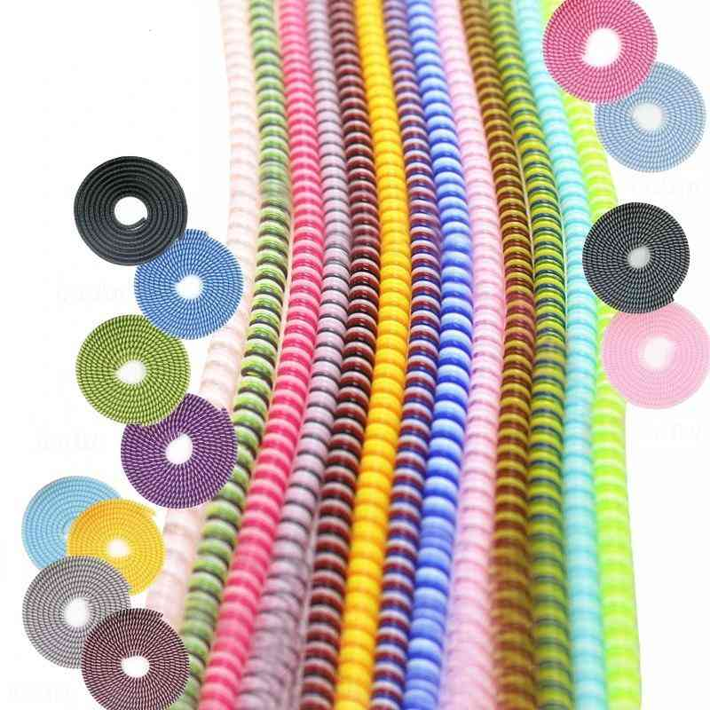 Mix Color Phone Wire Cord Rope Protector - Usb Charging Bobbin Winder Data Line