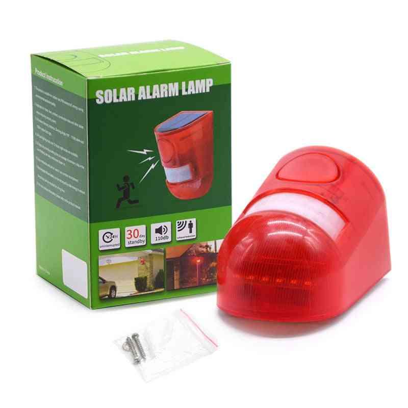 Solar Sound & Light Alarm Motion Sensor
