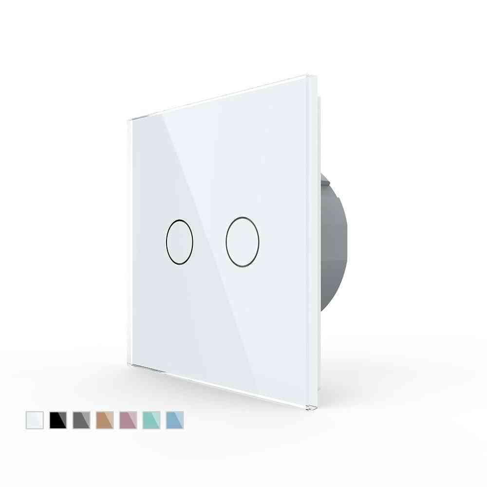 Eu Standard 2 Gang 1 Way Wall Touch Light Switch