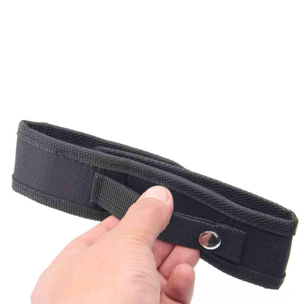 Led Flashlight Torch Nylon Holster Holder - Belt Case Pouch Bag