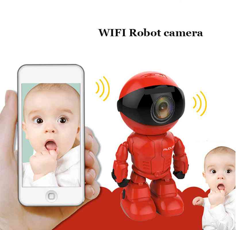 Wireless Red-robot Wifi-camera Ip/p2p Cctv Baby Cam  Monitor, Surveillance Hd H.264130mp Lens Ir Night Vision For Android/ios