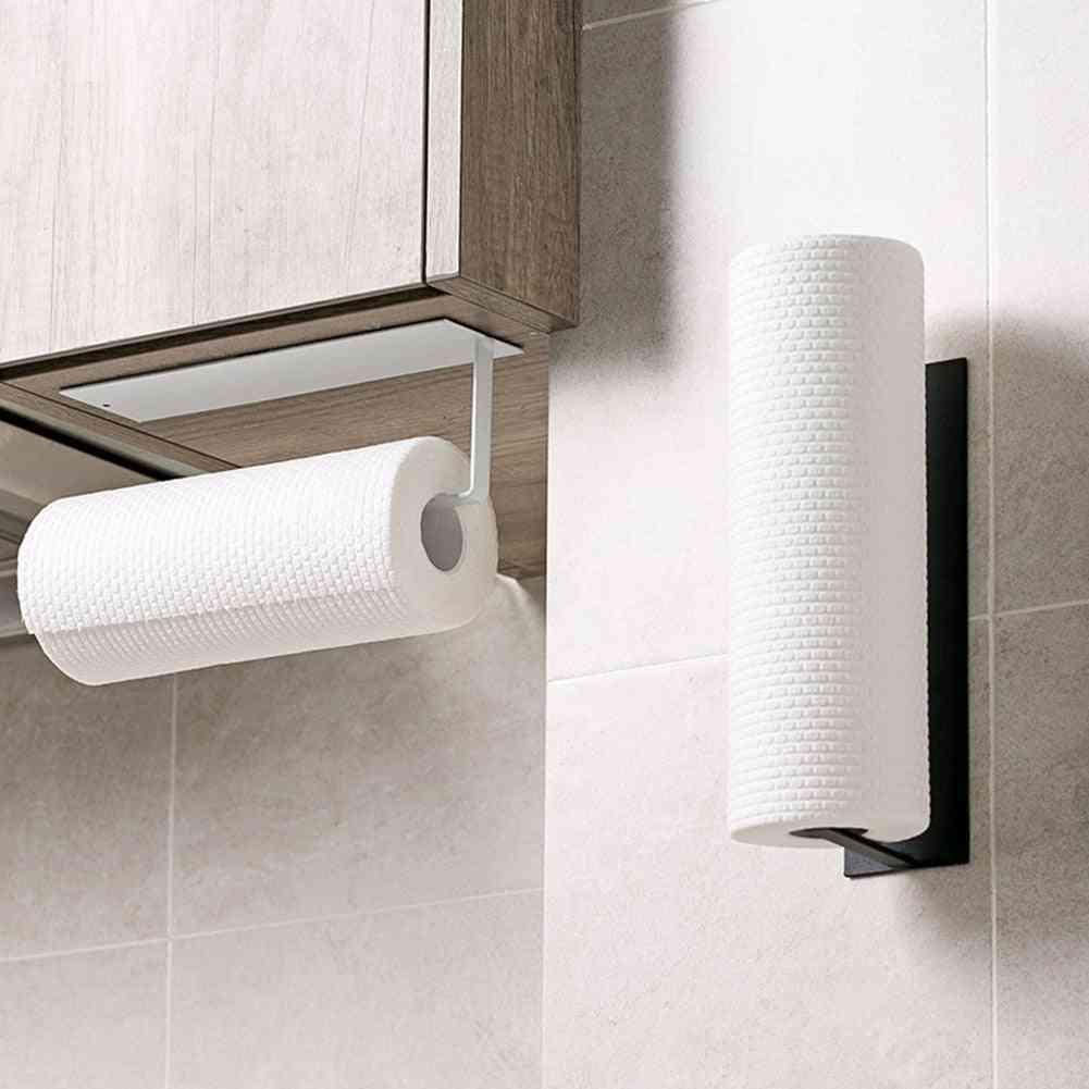 Under Cabinet Paper Roll Rack- Towel Holder