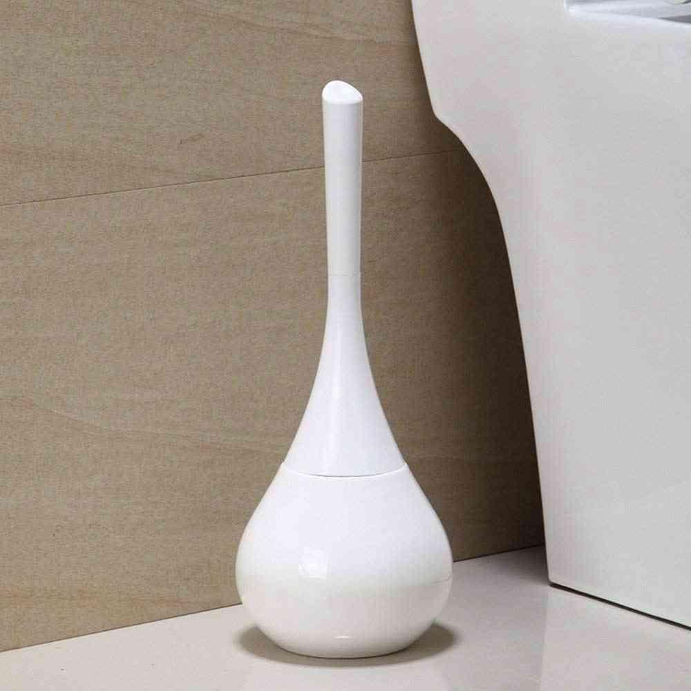 Elegant Horn Shape Toilet Brush Holder Set