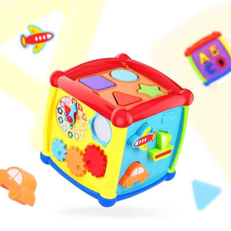 Multifunctional Musical Toddler Baby Box, Music Piano Cube Geometric Blocks Sorting Educational