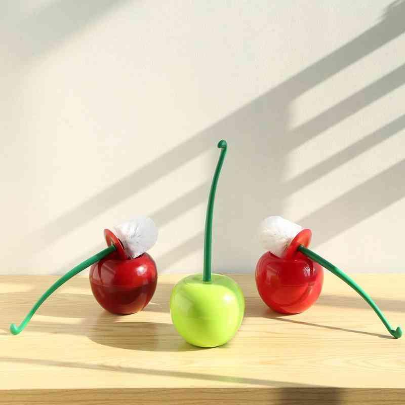 Cute Cherry Shaped Toilet Brush Holder Set