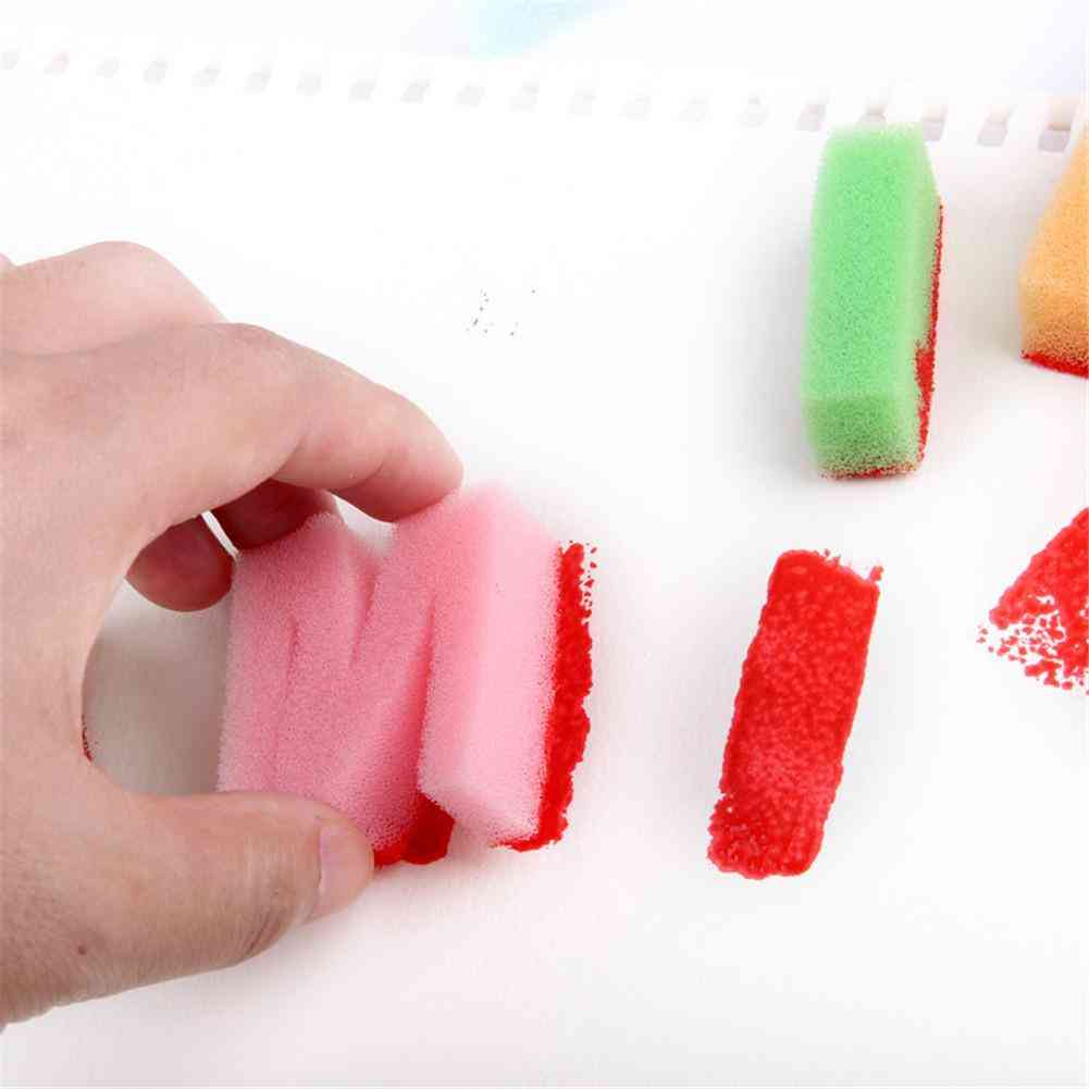 26 Letters Alphabe - Sponge Painting Drawing Craft Book