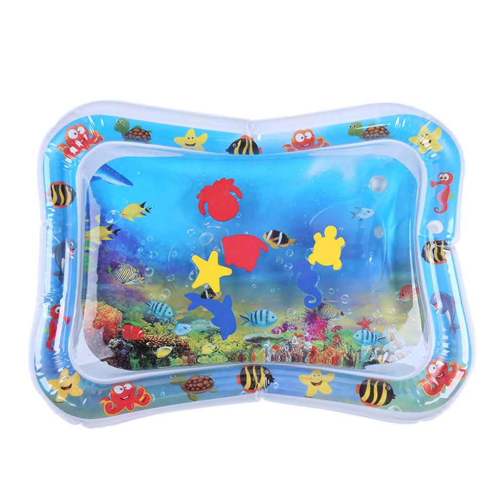 Baby Kids Water Play Mat - Inflatable Infants Tummy Time Playmat