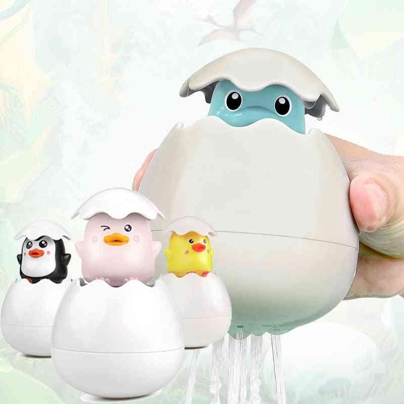 Baby Bathing Toy Kids Cute Animal Dinosaur Duck Penguin Egg Water Spray Sprinkler Floating Toy