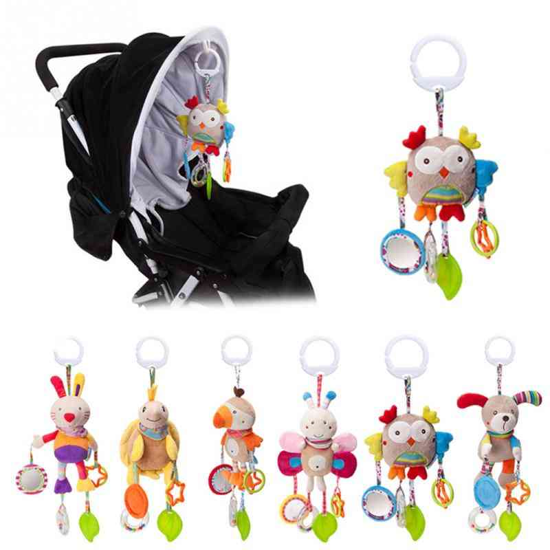 Bed Stroller Mobile Hanging Rattles Plush Infant For Baby