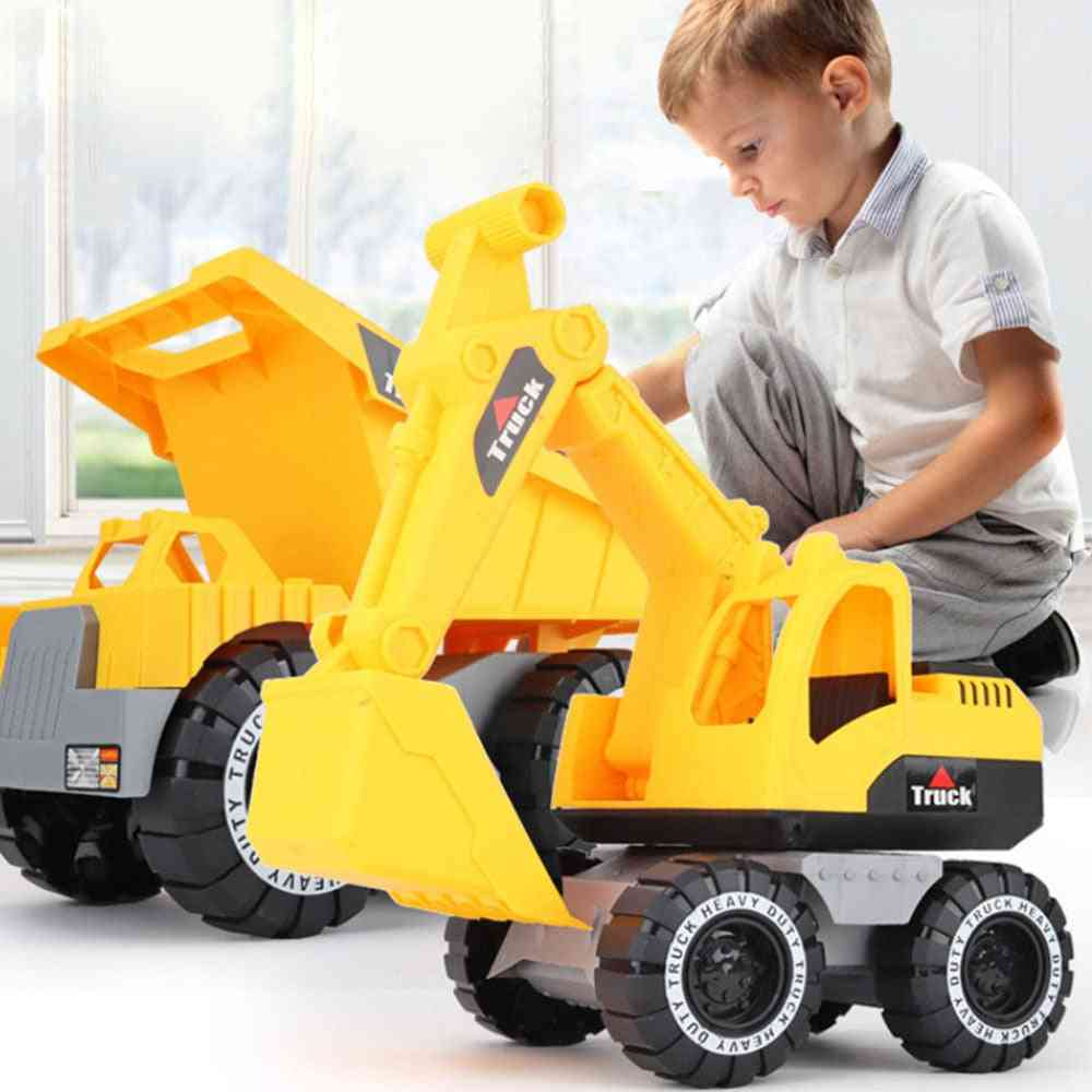 Classic Simulation Engineering Car Toy Excavator, Tractor  Model