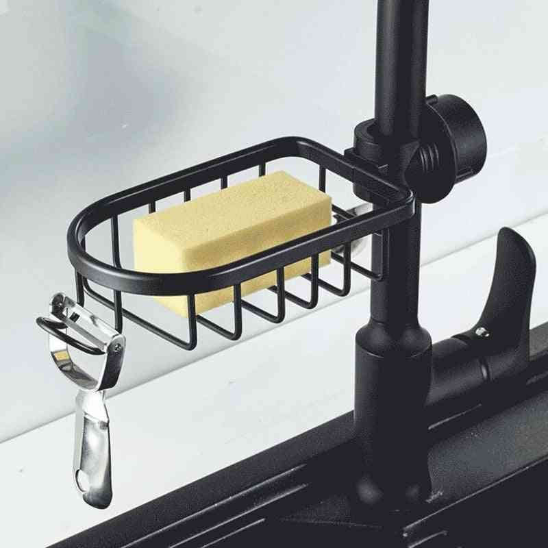 Adjustable Stainless Steel Faucet Storage Rack