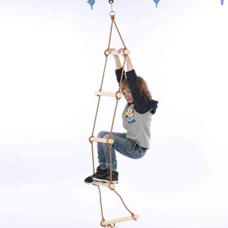 Multi Rungs Ladder And Rope-safe Swing -children Activity Climbing Game