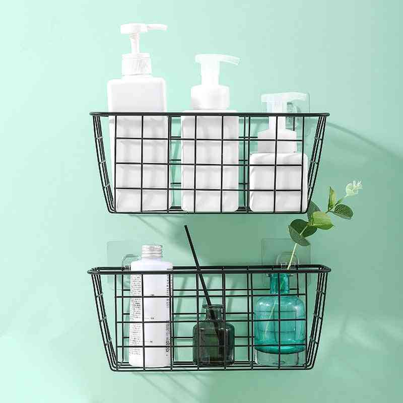 Wrought Iron Grid, Single Tier, Wall Mounted Hanging Basket