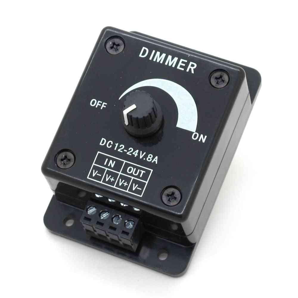 Black Led Dimmer Dc  Adjustable Brightness Controller Switch Lamp