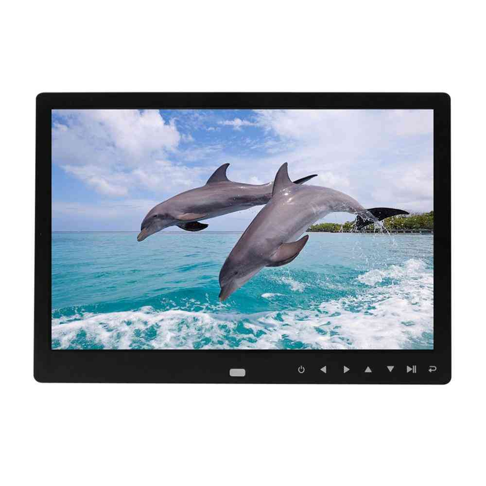 12 Inch Electronic, Digital Photo Frame With Mp3/mp4 Video Player