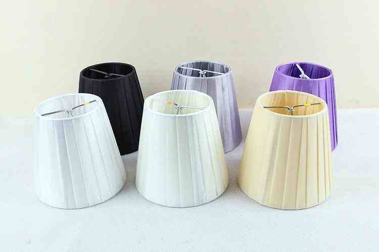 Modern Colored Light Lamps With Fabric Lamp Shades