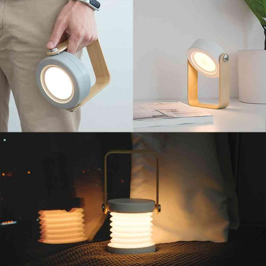 Portable Deformed Nightlight- Usb Rechargeable, Multi-purpose Lantern