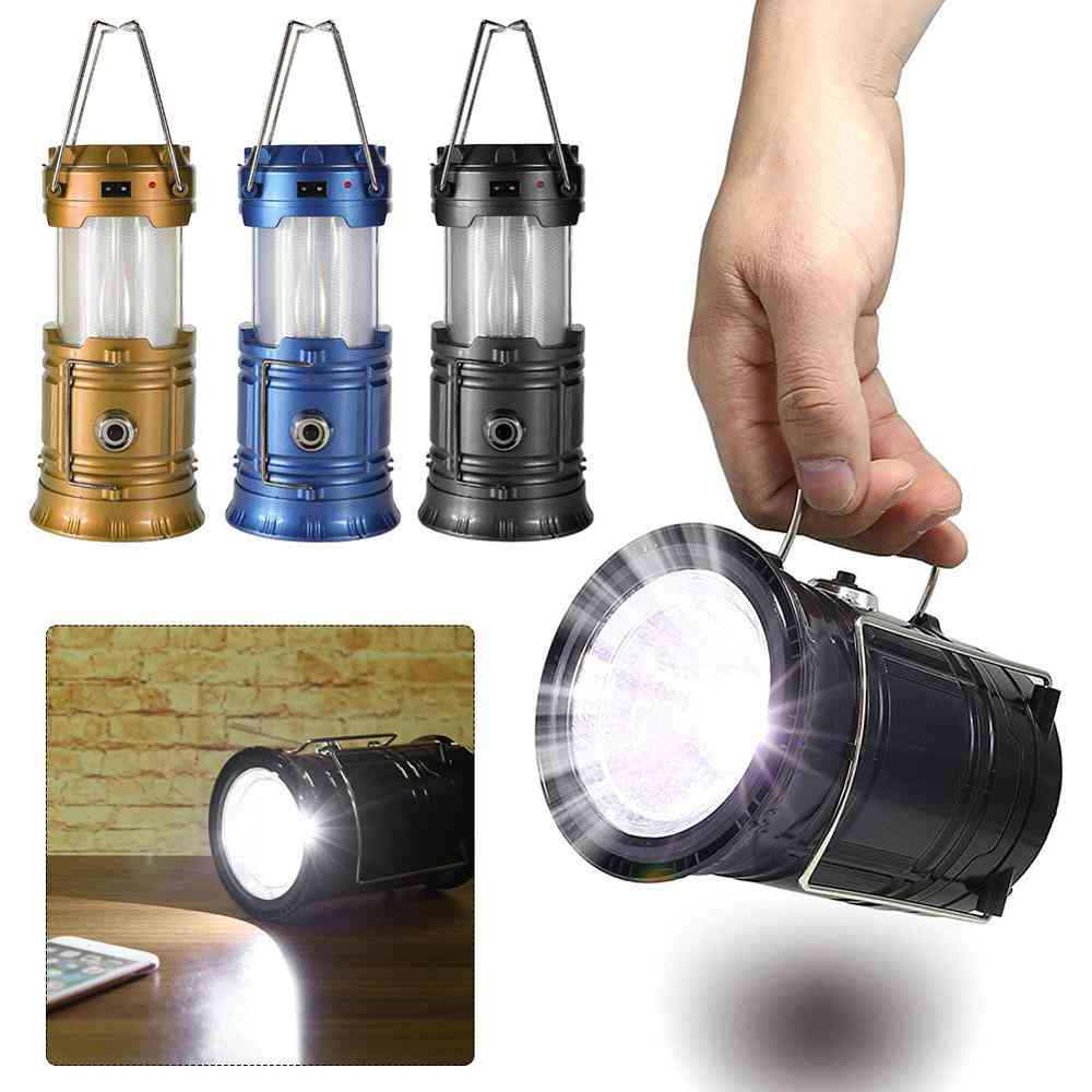 Portable Solar Camping Tent Light - Flame Lamp Lantern