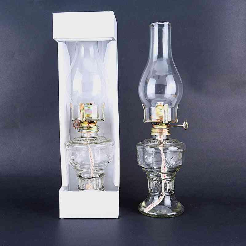 Kerosene Glass Lanterns Oil Lamp - Classic Retro Family Decorative Lights
