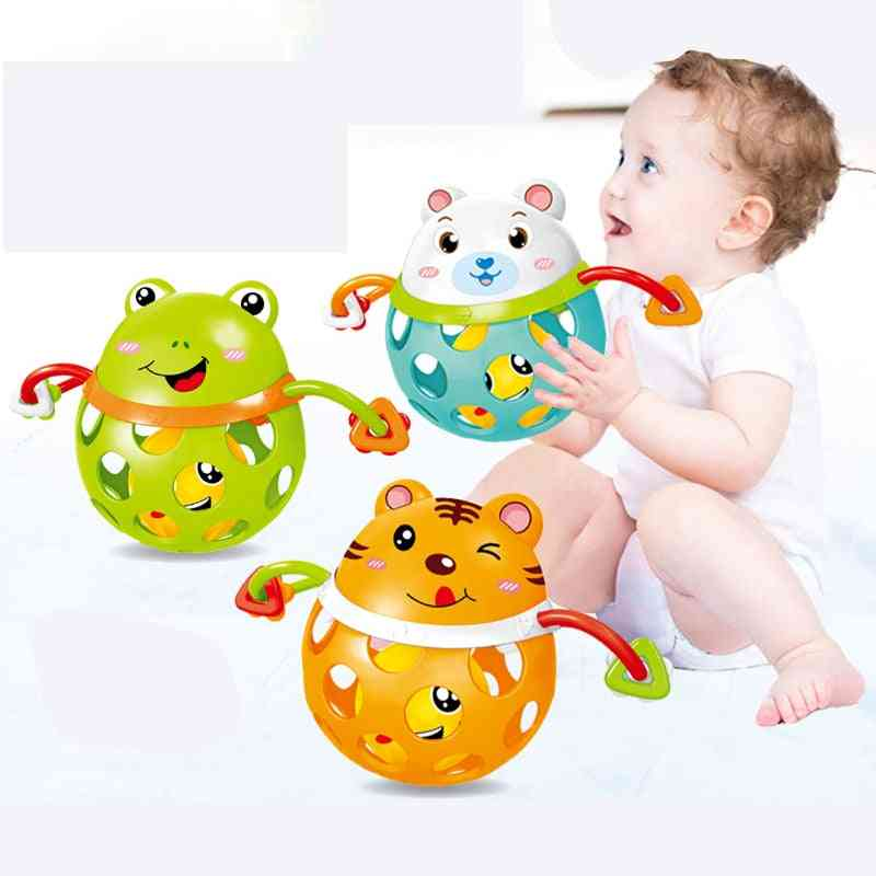 Baby Rattles Toy Cars Soft Plastic Teether Early Educational Hand Bell Baby