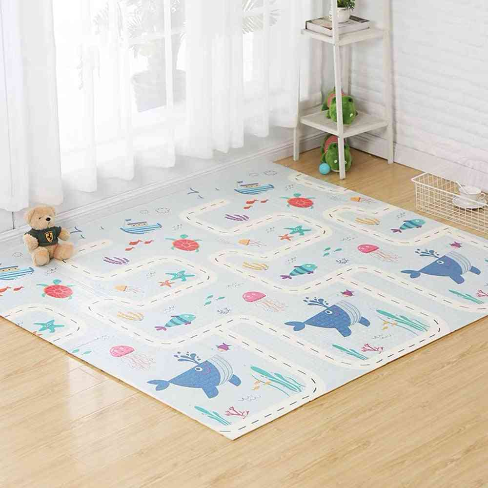 Baby Play Double Sided Crawling Mat - Foldable Waterproof Infants Carpet Floor