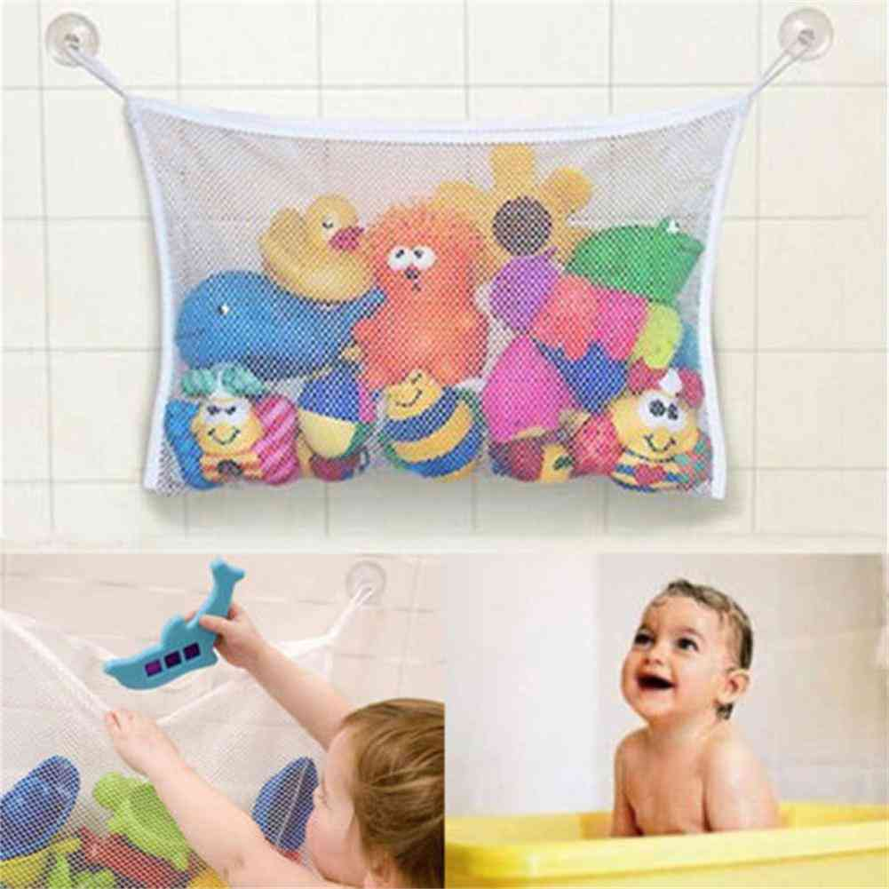 Baby Shower Toy Storage Mesh/net Bag With Suction Cup Hook