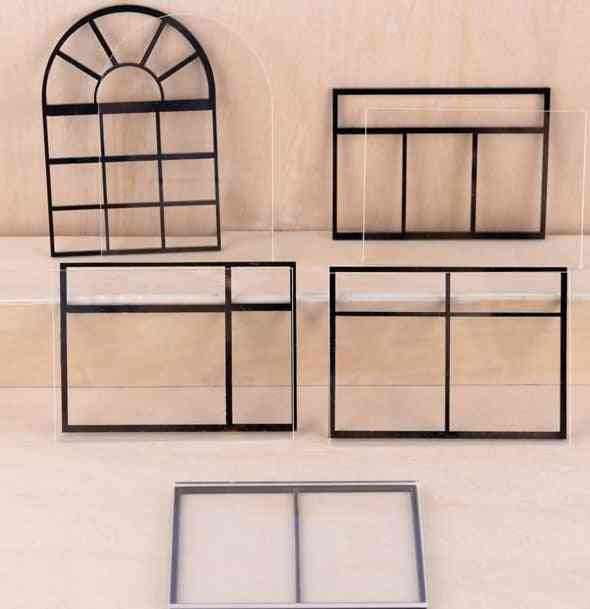 Acrylic Glass And Grids For Miniature Doll House Window