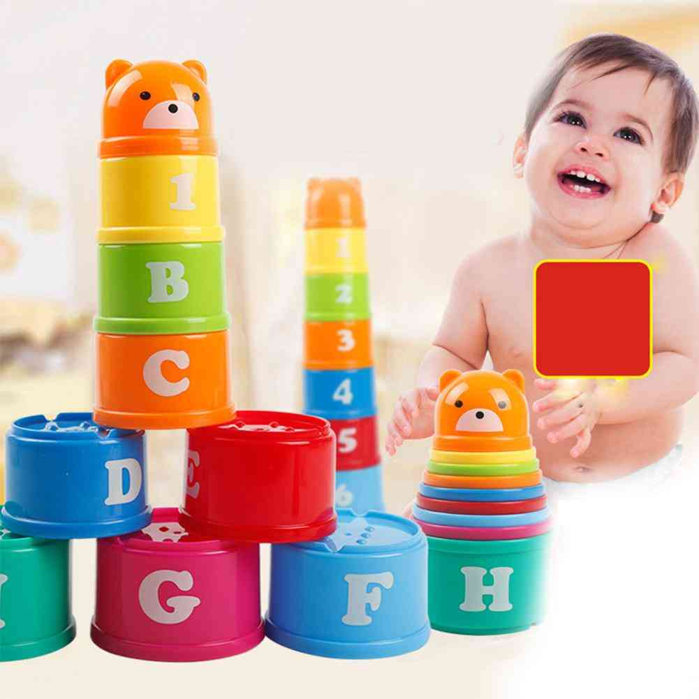 Bear Figure Letters Folding Stack Cup Tower