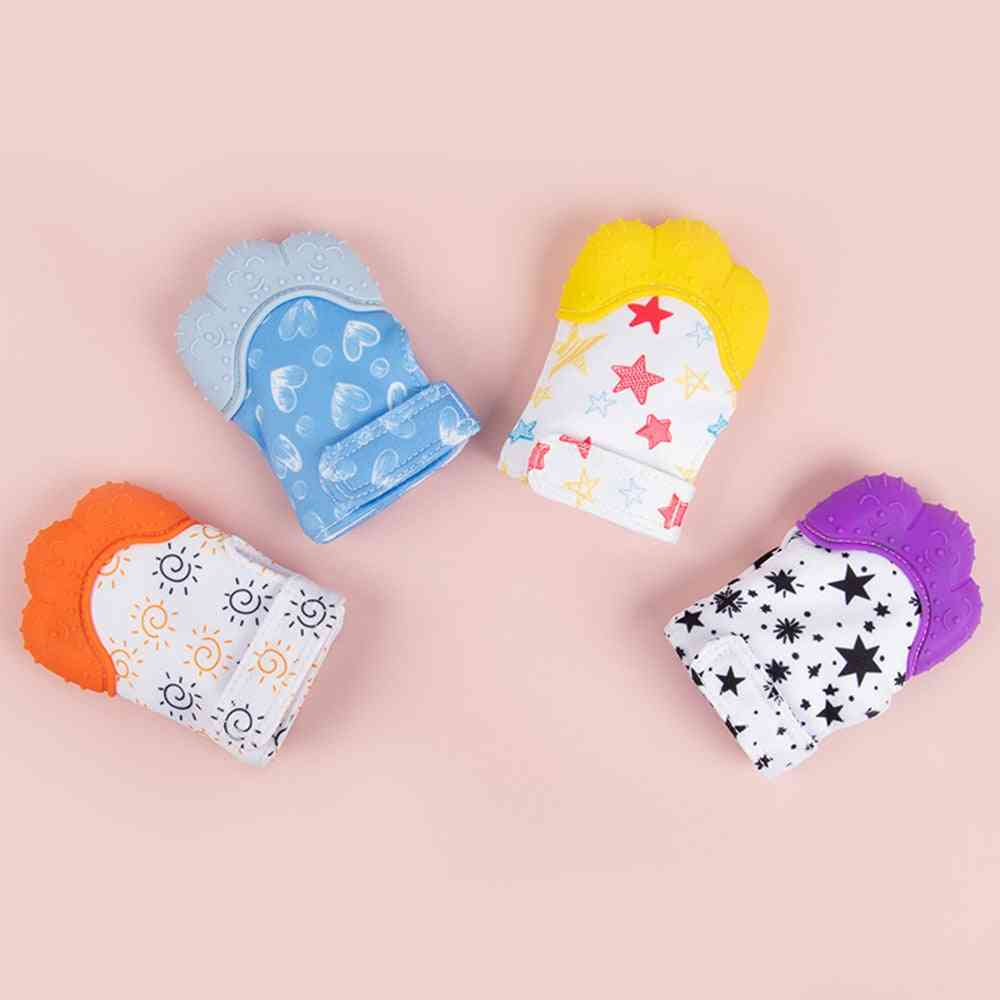 Silicone Baby Molar Gloves - Anti Bite Stop Sucking Thumb Toy