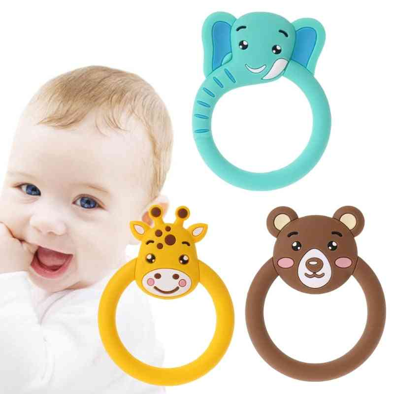 Cute Baby Pacifier Teethers -cartoon Teething -silicone Necklace